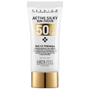 Солнцезащитный крем для лица с пептидами Medi-Peel Active Silky Sun Cream SPF50+ PA+++