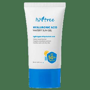 Купить солнцезащитный гель для лица с гиалуроновой кислотой Isntree