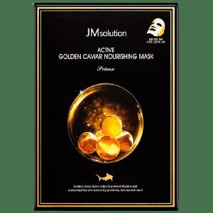 Питательная маска для лица с золотом и икрой JMSOLUTION Active Golden Caviar Nourishing Mask Prime
