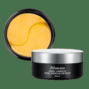 Патчи под глаза с экстрактами меда и прополиса JMSOLUTION Honey Luminous Royal Propolis Eye Patch Black